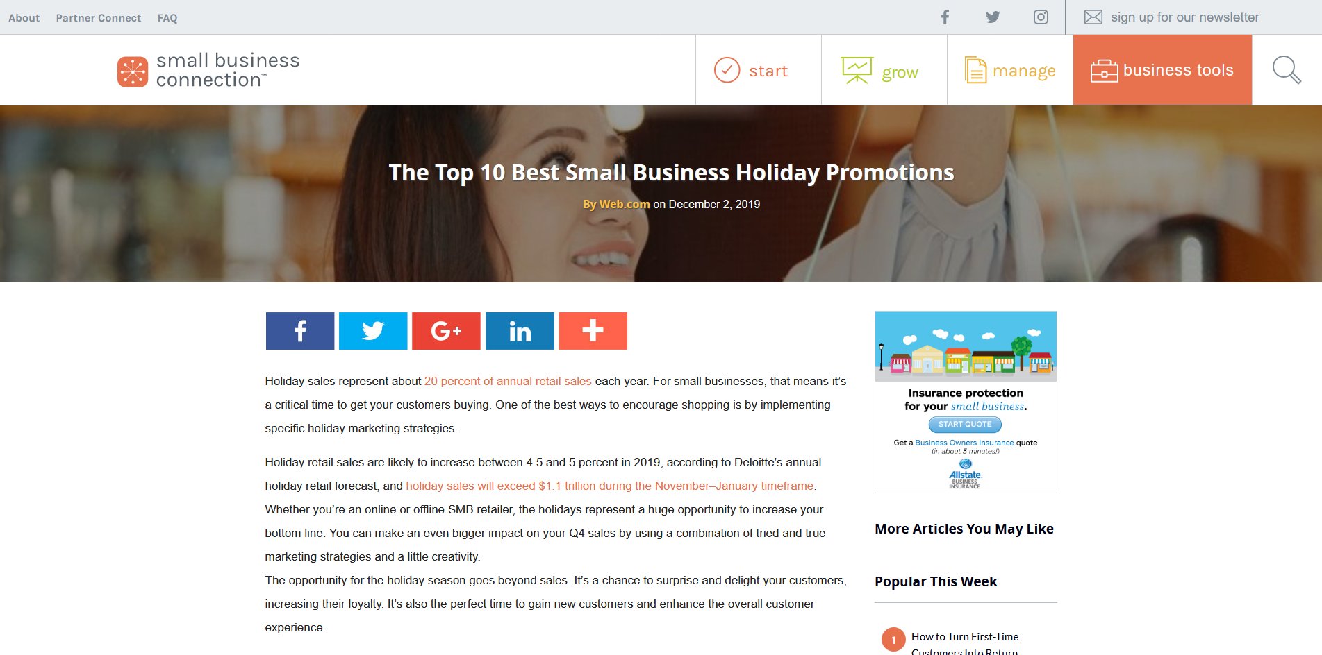 Screenshot_2019-12-03 Best Small Business Holiday Promotions Small Business Connection